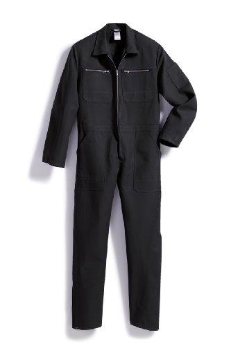 BP1416-010-32-38/40l Overall mit Reißverschluss in beide Richtungen und Taschen 260,00 g/m² Reine Baumwolle, schwarz 48/50l