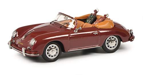 Schuco 450268800 Porsche 356A Cabrio Golf, mit 2 Golftaschen, Modellauto, 1:43, rot, Limitierte Auflage