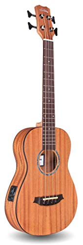 Cordoba Guitars 4 String Acoustic-Electric Bass Guitar, Right, Natural, (Mini II MH-E)