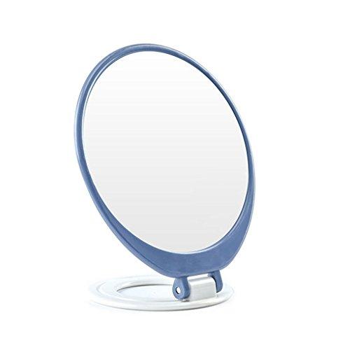 GSN Plier Portable Miroir Cosmétique Bureau HD Unique Miroir De Vanité De Voyage Voyage De Poche Miroir De Poche Miroir (Color : Blue)