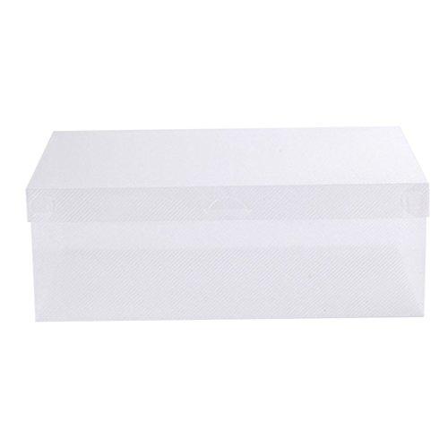 Bodhi2000 Aufbewahrungsbox für Schuhe, Kunststoff, transparent, plastik, durchsichtig, Einheitsgröße