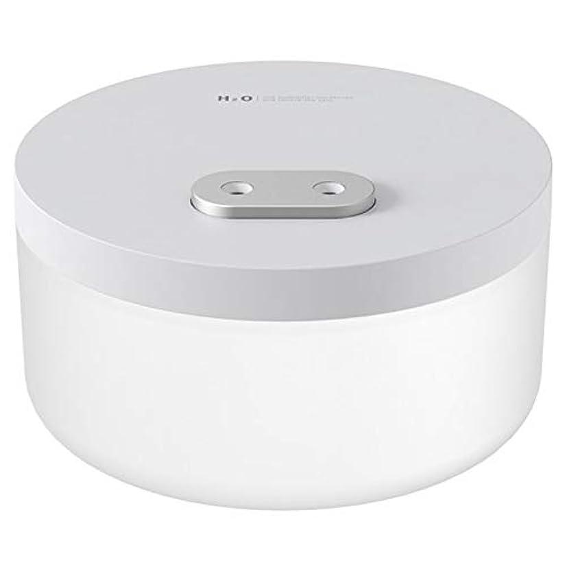 枯渇実質的びっくりする1Lデュアルスプレー空気加湿器2000mAhの充電式のUSBワイヤレス超音波アロマウォーターミストディフューザー (色 : White)