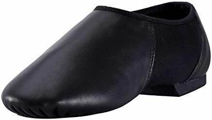ARCLIBER Leather Jazz Shoe Women Men Slip on Black 9 M US product image