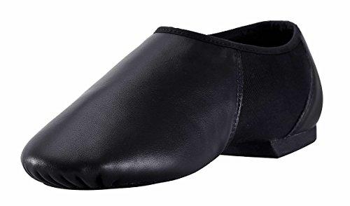 ARCLIBER Modern Leather Slip On Jazz Shoe Black-6M