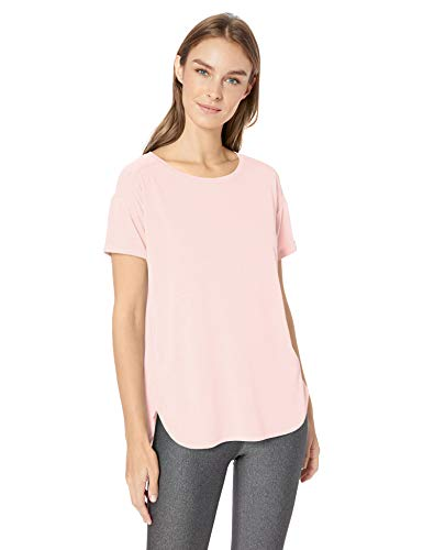 Amazon Essentials Studio Relaxed-Fit Crewneck Fashion-t-Shirts, hellrosa Farbe, Large