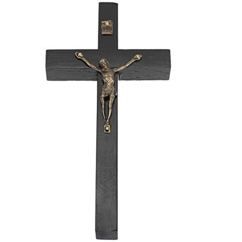 BESPORTBLE Kruisbeeld Muur Kruis voor Home Decor Houten Katholieke Kruisbeeld Ornament Zwart