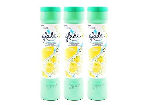 3 x Glade Shake 'n'Citrus Blossom Vac Teppichreinigungspulver 500g