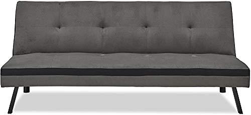 Apartamento pequeño sofá de la sala Cama alquiler pisos plegables Barber Shop sencilla sofá cama de la siesta perezosa,Grey