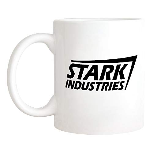 DeepRollingQAQ - Iron Man Mug, Stark Industries Logo Mug, Tony Stark Coffee Mug, 11oz Novelty Ceramic Coffee Mug/Cup