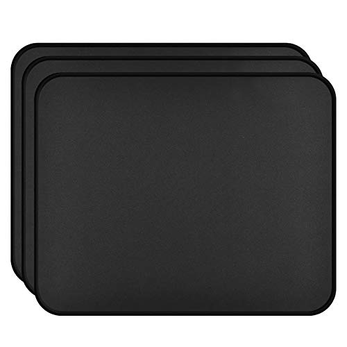 Mouse Pad with Stitched Edge 3 Pack, 30% Larger Gaming Mouse Pad with Non-Slip Rubber Base, Washable Mousepads Bulk with Smooth Surface, Comfortable Mouse Pads for Laptop,Office 11x8.7x0.12in, Black