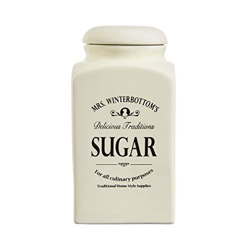 Butlers MRS. WINTERBOTTOM\'S - Zuckerdose 1,3 l in Creme - Vintage Vorratsdose aus Steingut im englischen Design - stilvolle, Klassische Aufbewahrung