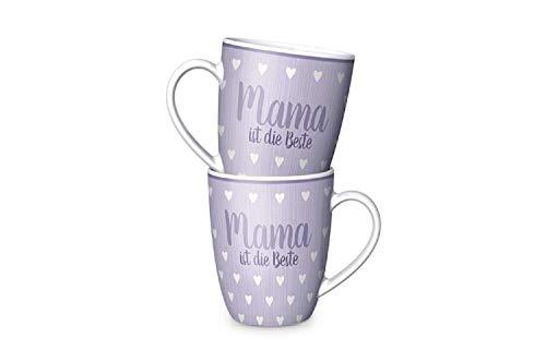 Tasse Becher Kaffeetasse Teetasse mit Motiv und Aufschrift Auswahl Mama ist die Beste , Opa Oma - Geschenk Idee Muttertag , Geburtstag , Weihnachten , Mitbringsel (Mama ist die Beste)