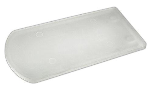 Glasdachziegel Biberschwanz Massives Echtglas 2-seitig satiniert (Milchglas) 18x34,5/38cm