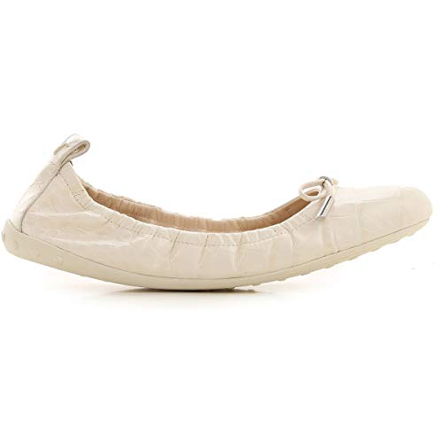 Tod's Luxury Fashion Damen XXW12C0CJ10NBWC016 Weiss Leder Ballerinas | Frühling Sommer 20