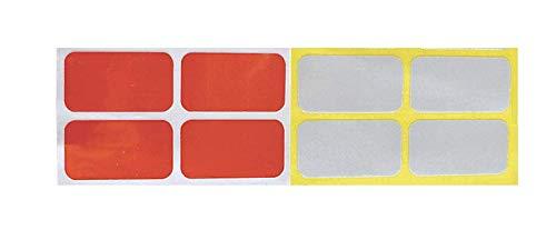 Reflector Stickers wit en rood (set van 8 stuks)