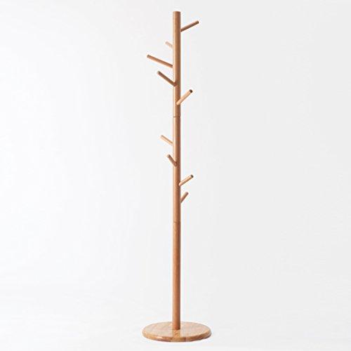 SKC Lighting-Porte-manteau Porte-manteaux en bois massif Ensemble de plancher Ensemble de vêtements simples (Couleur : Couleur du bois)