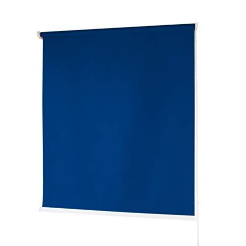 Estores Baratos Enrollables · Estores para Ventanas en Tela de Poliéster · Stores Ventanas con Mecanismo y Cadena en PVC · Color Azul Marino · Medidas (200x180 cm)