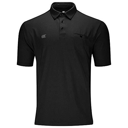 Target Darts Flexline Luxury Schwarzes Pro Darts Shirt Large