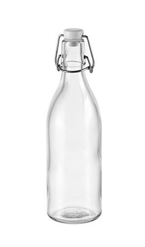 Tescoma 895182 Della Casa Bottigli con Tappo Meccanico, Vetro, Trasparente, 500 ml, 1 Pezzi