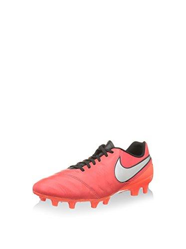 Nike Scarpa da Calcio Tiempo Genio II Lea Fg Rosso/Nero EU 42.5 (US 9)