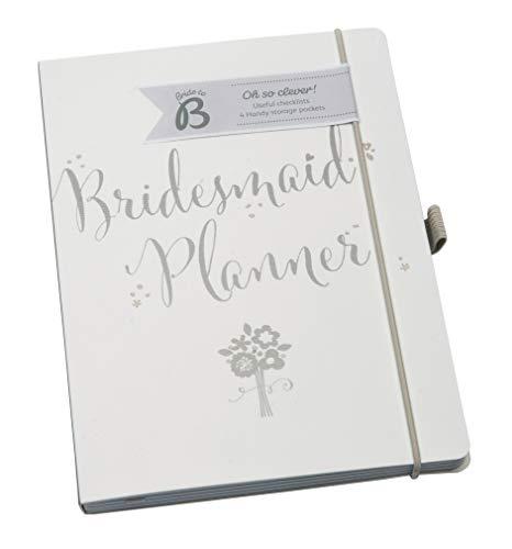 Busy B Bride to B Planungsbuch für die Brautjungfer Folienverzierter Hardcover-Planer mit 4 gekennzeichneten Abschnitten Viele Steckfächer, weiß/silber