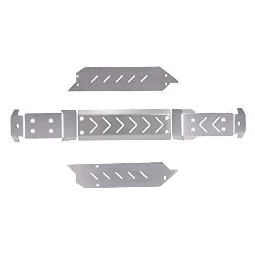 lujiaoshout Edelstahl-Chassis Schutzplatte für 1/10 TRAXXAS MAXX RC Auto-Zubehör