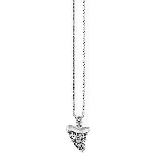THOMAS SABO Damen-Kette mit Anhänger Ethno Zahn 925 Silber Diamant (0.2 ct) weiß 0.1 cm - D_KE0014-356-21-L45v