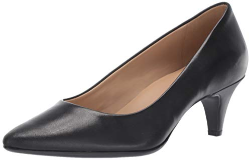 Naturalizer Women's Beverly Pumps, Black Leather,8.5 W US