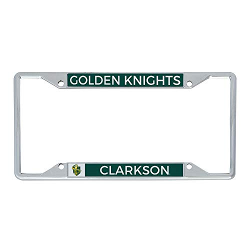Desert Cactus Clarkson University Golden Knights NCAA Metal License Plate Frame for Front or Back of Car Officially Licensed (Mascot)