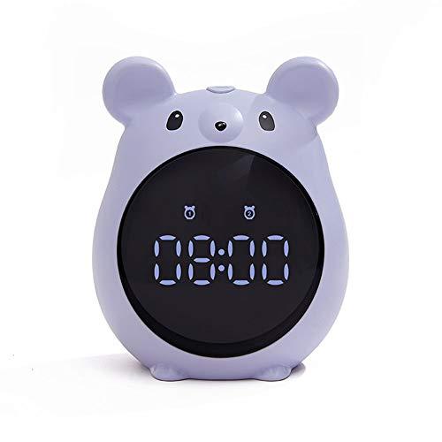 Reloj Despertador De Led Para Niños,Reloj Despertador Silencioso De Cabecera,XXL El Mejor Reloj Digital Para Niños,Niñas Y Niños Como Regalo De Navidad