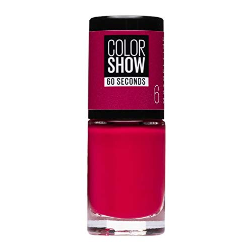 Maybelline New York Make-Up Nailpolish Color Show Nagellack Bubblicious / Ultra glänzender Farblack in knalligem Pink, 1 x 7 ml