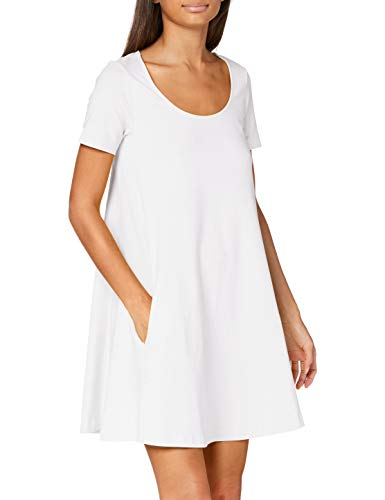 Benetton Vestito Vestido, Blanco (Bianco 101), Large para Mujer