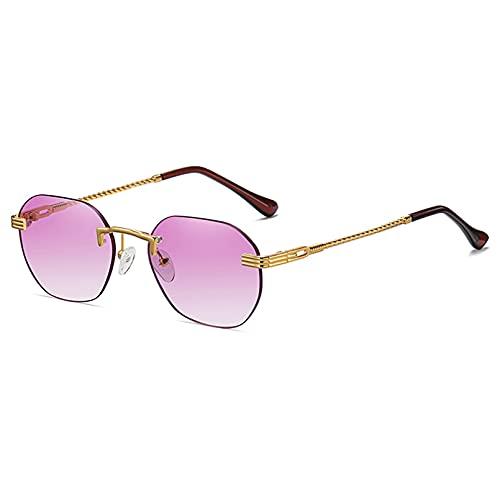 LUOXUEFEI Gafas De Sol Gafas De Sol Sin Montura Para Mujer, Azul, Rosa, Gris, Gafas De Sol Para Hombre, Lentes Sin Marco, Accesorios De Verano