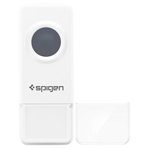 Spigen E100W Wireless Doorbell with 1 Button/Transmitter and 1 Ringer/Receiver and 1000 Feet Range with Over 50 Chimes