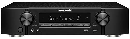 Marantz NR1510 UHD AV Receiver (2019 Model) – Slim 5.2 Channel Home Theater Amplifier, Dolby TrueHD and DTS-HD Master Audio | Alexa Compatible | Stream Music via Wi-Fi, Bluetooth and HEOS Black