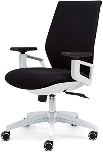 GAOLILI Bürostuhl mit Armlehne Bürostuhl Spielstuhl Schwenkstuhl, Schlafzimmerstudie Computerstuhl Student Schreibtisch Drehstuhl Ergonomisch Stuhl (Color : White)