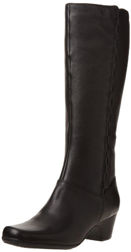 Hot Sale Clarks Women's Cardy Boot,Black Leather,7.5 M US