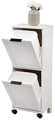 Kesper Universalschrank mit Mülltrennsystem, 25530 13, Maße: B: 36 x H: 94 x T: 24 cm, MDF