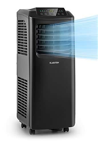 KLARSTEIN Pure Blizzard Smart - Condizionatore Portatile 3in1: Climatizzatore/Deumidificatore/Ventilatore, Wi-Fi: AppControl, incl. Guarnizioni Finestre, Timer 24h, 9.000 BTU/2,6 kW, 26-44 m², Nero