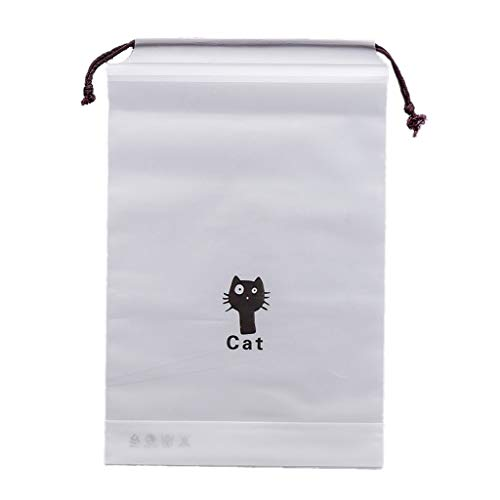 VEED Cute Cat Travel Storage Bag Drawstring Pocket Cosmetic Organizer Pouch Packing Bag for Clothes Shoes Toiletries Kit Makeup Waterproof