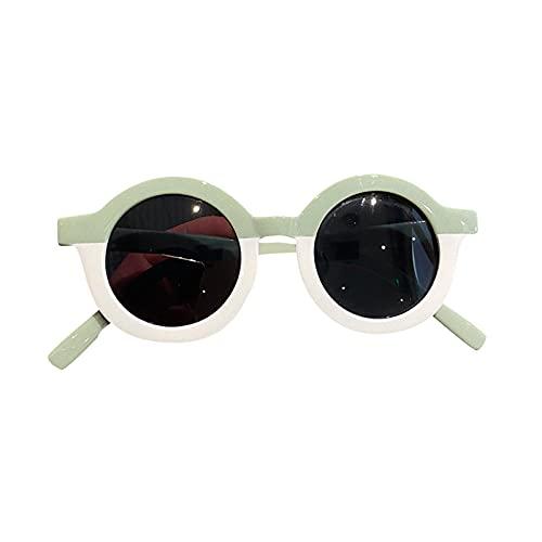 Gafas de sol para niños, gafas de sol con marco redondo, colores bonitos, adecuadas para fotografía, (6 estilos)
