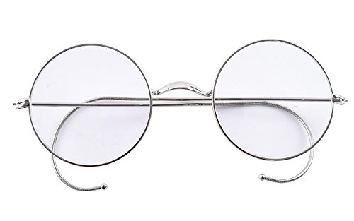 Agstum Retro Round Optical Rare Wire Rim Eyeglass Frame (Without Nose Pads)