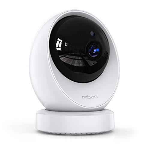 Telecamera Wi-Fi Interno, Mibao Telecamera IP FHD 1080P, Supporta 24 Ore Registrazione Continua, Rilevamento del Movimento con Suono di Allarme, Visione Notturna, per anziani/baby
