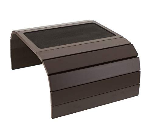 Table pour canapé avec plateau et base en Eva. Lateraux avec des poids. S'adapte aux accoudoirs carrés.