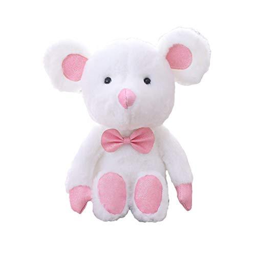 DOUFUZZ Süße Maus Plüsch Spielzeug Baby Bett Zeit Puppe gefüllte Tiere Puppen schöne Plüsch Spielzeug für Kinder Geburtstagsgeschenk 2 STK 25cm Typ-E