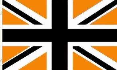Wolverhampton Wanderers Black & Gold Union Jack Flag