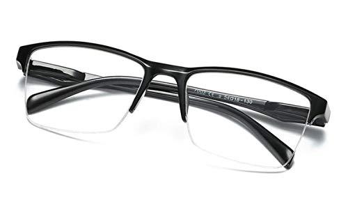 Klassische Halbrahmen Lesebrille Reading Glasses Unisex Dioptrien ¼ Schritte 0,25 Zwischenstärken | + 0,50 bis + 4,0 Dioptrien weitsichtig | HGZ (+ 0,75 Dioptrien)