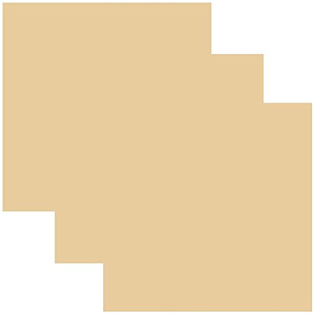 SISER EasyWeed Heat Transfer Vinyl HTV for T-Shirts 12 x 12 Inches 3 Precut Sheets (Cream)