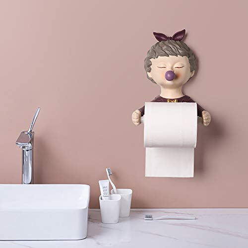 Fengyj Toilettenpapier-Halter Für Badezimmer-Küche-Stick An Dem Wall,Lila