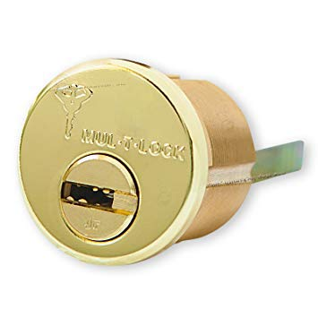 Mul-t-lock Junior Rim & Mortise Rimo Cylinder. Mul-t-lock Rim Mortise 2 Keys high Security Mortise Cylinder (Brass)